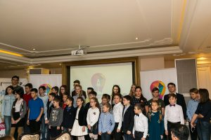 Торжественная церемония посвящения детей в члены клуба